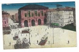3062 - PARMA PIAZZA GARIBALDI PALAZZO MUNICIPALE ANIMATISSIMA TRAM 1918 - Parma