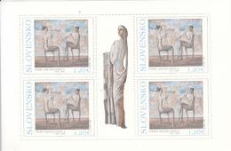 2012 Slovakia Art Painting Miniature Sheet Of 4 MNH  @ BELOW FACE VALUE - Blocks & Kleinbögen