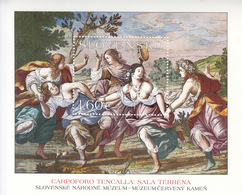 2012 Slovakia Art Painting Fresco Kamen Castle Souvenir Sheet  MNH  @ BELOW FACE VALUE - Blocchi & Foglietti
