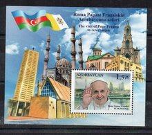 AZERBAIDJAN - B/F - M/S - 2016 - VISITE DU PAPE FRANCOIS - POPE FRANCIS VISIT - - Azerbaïdjan