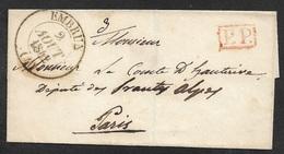 1842 LSC EMBRUN Type 13 (HAUTES ALPES) A PARIS. P.P Port Payé - Storia Postale