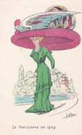 CPA Illustrateur VINDIER N° 7 -la Parisienne En 1909- Chapeau Et Coq (lot Pat 104) - Otros Ilustradores
