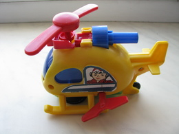 USSR Soviet Russia Kids Toys Mechanical Helicopter New - Figurines