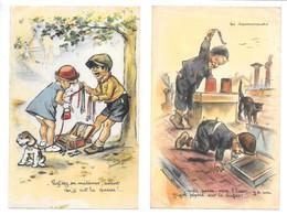 2 Cpa...illustrateur Bouret Germaine...profitez Mèdèmes..1944....les Ramoneurs... - Bouret, Germaine