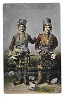 PELION (Grèce) Hommes En Costume Usages Au 1er Mai Gros Plan - Greece