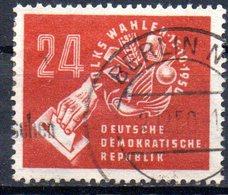 """(DDR-BM1) DDR """"Volkswahlen Am 15.10.1950"""" Mi 275  Sauber Bedarfsgestempelt - [6] Repubblica Democratica"""