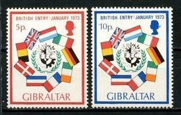 GIBRALTAR 1973 N° 292/293 ** Neufs MNH Superbes C 2,50 € Marché Commun EEC European Economic Community Drapeaux - Gibraltar