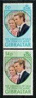 GIBRALTAR 1973 N° 303/304 ** Neufs MNH Superbes Mariage Princesse Anne Et Capitaine Mark Philips - Gibraltar