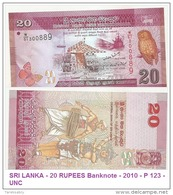 SRI LANKA - 20 RUPEES Banknote - 2010 - P 123 - UNC - Sri Lanka
