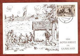 Karte, Rotes Kreuz Saarland, Historischer Verbandsplatz Bei Saarbruecken, St Ingbert 1957 (90416) - 1947-56 Allierte Besetzung