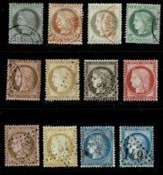 A9b-la Série Oblit. Dont  N°60 Type II Tous Sans Défaut. Cote 230 Euros - 1871-1875 Cérès