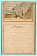 MENU Du 5 Mai 1890. Catastrophes De Petits Garçons De Cuisine. - Menükarten