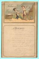 MENU Du 5 Mai 1890. Catastrophes De Petits Garçons De Cuisine. - Menú