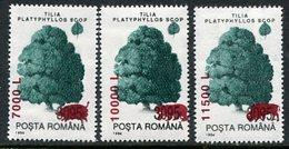 ROMANIA 2000 Surcharges On Trees 3095 L.  MNH / **.  Michel 5546-48 - 1948-.... Republics