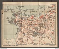 CARTE PLAN 1924 BIARRITZ - BAINS CASINOS LES CHANINGS LE MISÉRABLE PORT Des PECHEURS - Topographische Kaarten