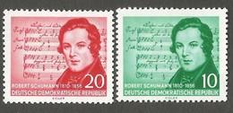 East Germany/DDR. 1956 The 100th Anniversary Of The Death Of Robert Schuman. SG E264-265. CV £4.10. MNH - [6] Repubblica Democratica