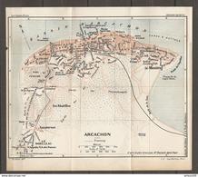 CARTE PLAN 1925 ARCACHON GIRONDE (33) - BAINS D'EYRAC LE MOUENG SANATORIUM LES ABATILLES LE MOULLEAU - Topographische Kaarten