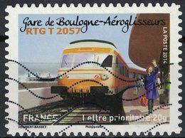 France 2014 Oblitéré Used Stamp Trains Gare De Boulogne Aéroglisseurs RTG T 2057 - Francia