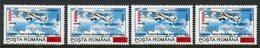 ROMANIA 2000 Surcharges On Aircraft 960 L.  MNH / **.  Michel 5525-28 - 1948-.... Republics
