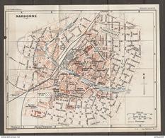 CARTE PLAN 1925 NARBONNE AUDE (11) - INFANTERIE MARCHÉ Aux BESTIAUX STADE De FOOTBALL - Topographische Karten