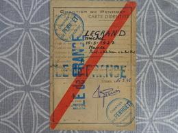 44 PENHOET SAINT NAZAIRE CHANTIER CARTE D'OUVRIER TRAVAILLANT SUR LE PAQUEBOT ILE DE FRANCE - Vieux Papiers