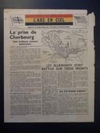 WWII WW2 Propaganda Leaflet Flugblatt Tract  CODE XB.20 L'ARC EN CIEL No.18, LE 30 JUIN 1944  FREE SHIPPING WORLDWIDE - Non Classés