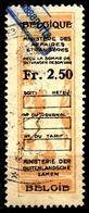BELGIUM  Belgique - LION - Revenue Tax STAMP - USED - 2.50 - Ministere Des Affaires - CONSULAR - Steuermarken