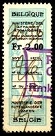 BELGIUM  Belgique - LION - Revenue Tax STAMP - USED - 2.00 - Ministere Des Affaires - CONSULAR - Steuermarken