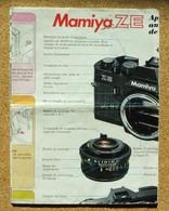 Notice D'utilisation Appareil De Photographie Argentique Mamiya ZE - Autres