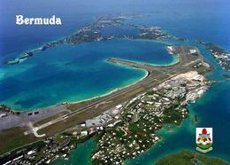 Bermuda Island International Airport Aerial View New Postcard - Bermuda
