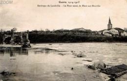 54 MONT SUR MEURTHE Aux Environs De LUNEVILLE - CPA GP NV RR - Le Pont Sauté - Lunéville Photo P R, 13 Pl De L'Eglise - Francia
