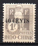Col17  Colonie Indochine Taxe N° 28 Neuf X MH  Cote 6,50€ - Indochine (1889-1945)
