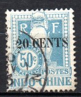 Col17  Colonie Indochine Taxe N° 26 Oblitéré  Cote 8,00€ - Indochine (1889-1945)