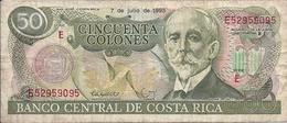 BANCONOTA  Da  50  COLONES  PESO -  Banco Central De Costa Rica  -  Anno 1993 - Costa Rica