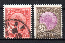 Col17  Colonie Indochine Taxe N° 50 & 51 Oblitéré  Cote 3,50€ - Indochina (1889-1945)