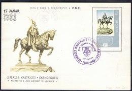 ALBANIA - 500 Y. Anniv. GJERGJ  KASTRIOTI  SKENDERBEU - LUX FDC - 1968 - Albania