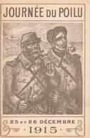 Militaria Guerre 1914 1918 Journée Journées Du Poilu 1915 Cpa 25 Et 26 Decembre - War 1914-18