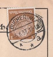 Deutsches Reich Karte Mit Tagesstempel Ducherow **a 1937 Lk Vorpommern - Greifswald - Brieven En Documenten