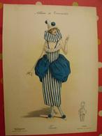 """Pierrette, Gravure En Couleurs Tirée De """"Album De Travestis"""". La Mode Nationale. Paris. Vers 1890. - Lithographies"""