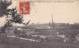 70. GOUHENANS. CPA. LA SALINE ET LA VERRERIE. ANNÉE 1912 + TEXTE - France