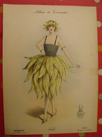"""Soleil, Gravure En Couleurs Tirée De """"Album De Travestis"""". La Mode Nationale. Paris. Vers 1890. - Lithographies"""