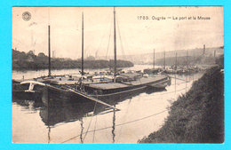 CPA OUGREE : Le Port Et La Meuse + Péniches - N° 1785 - Ed. Hermans Anvers - Circulée 1914 - 2 Scans - Seraing