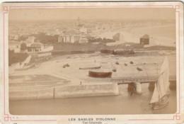 LE -(85) LES SABLES D' OLONNE - VUE GENERALE  - CARTE PHOTO - LIBRAIRIE  E. MAYEUX - 2 SCANS - Places