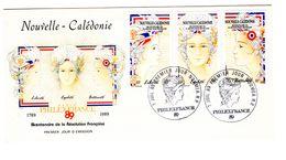 1989 - NOUVELLE CALÉDONIE - PHILEXFRANCE - FDC - FDC