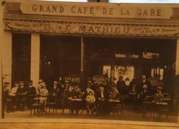 Cpa Café - Grand Café De La Gare 1922 - Chatou - Yvelines - Cafés
