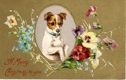 NATALE - CHRISTMAS - NOEL - FIORI - FLOWERS - FLEURS - CANE - DOG - CHIEN - N 001 - Autres