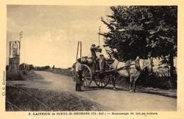 Nieul Lès Saintes Saint St Georges Des Coteaux Laiterie Thème Lait Fromage Attelage - Autres Communes