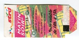 Ticket °_ 21-Dijon-Bus-Hebdo M.S-Horaires- R/V - Abonnements Hebdomadaires & Mensuels