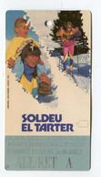 Ticket °_ Andorre-Soldeu-All.Ret-telesièges-1998- R/V - Abonnements Hebdomadaires & Mensuels