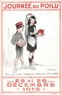 Guerre 1914 1918 Journée Journées Du Poilu 1915 Cpa 25 Et 26 Decembre Illustration Poulbot Infirmiere Croix Rouge - Guerre 1914-18